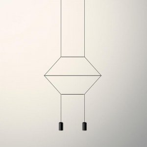 Lámpara colgante WIREFLOW LINEAL 0320 Vibia
