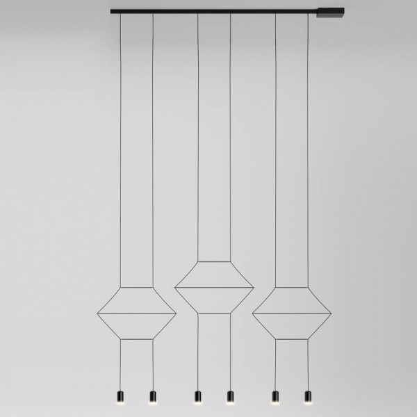 Lámpara colgante WIREFLOW LINEAL 0325 Vibia