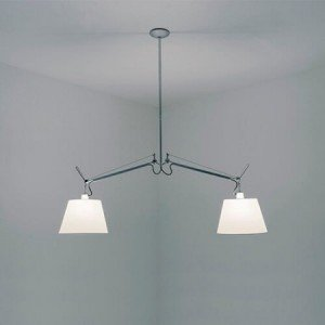 Artemide TOLOMEO BASCULANTE 2 BRACCI suspension lamp