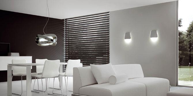 Decorar salón con lámparas de techo