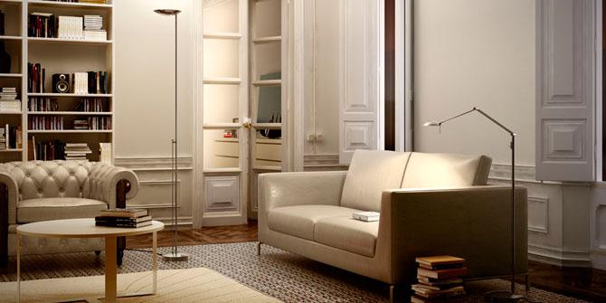 Iluminar zona de lectura en el salón con productos de Estiluz