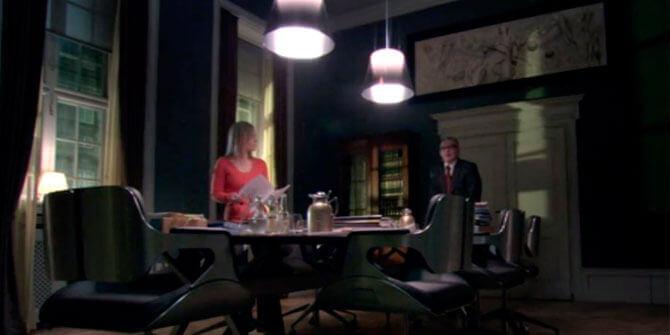 Lámpara de diseño Ktribe aparece en la serie The killing