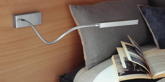 Lámpara lectura cama dormitorio Snaik de Carpyen