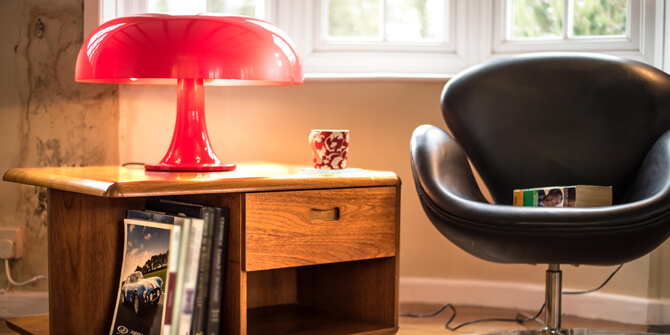 Lámpara mesa nesso rojo de artemide