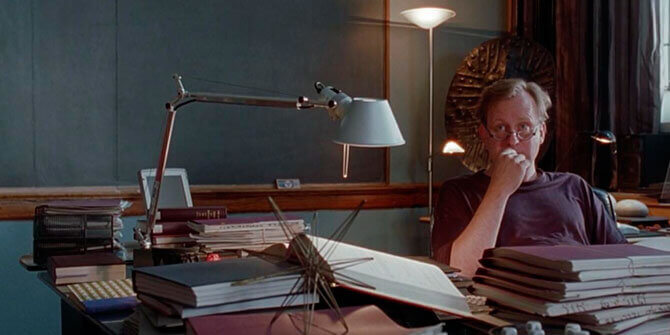 Lámpara Tolomeo de Artemide en versión de sobremesa aparece en la fantástica película del indomable will hunting