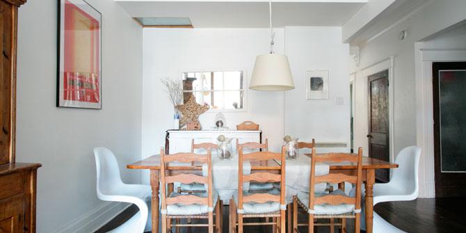 Lámpara Tolomeo colgante para decorar un comedor clásico