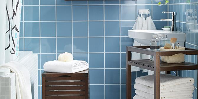 Mueble para almacenaje extra en el baño
