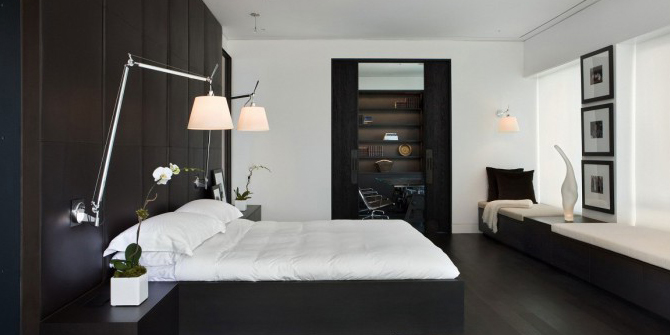 Lámpara de pared Swing para dormitorios
