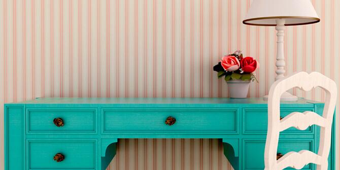 Materiales y colores en la decoración vintage
