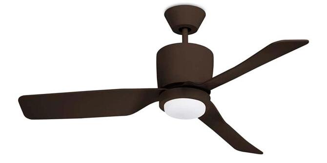 Ventilador de techo Vera marrón cobrizo Leds C4