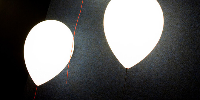 Versión de pared con luz led Balloon