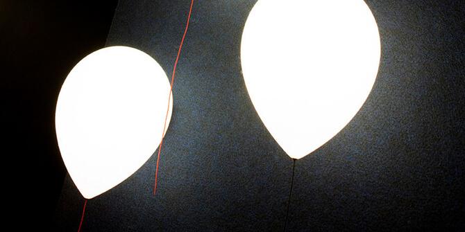Versión de pared con luz led Balloon