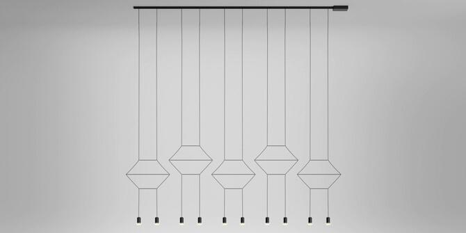 Lámpara colgante Wireflow Lineal