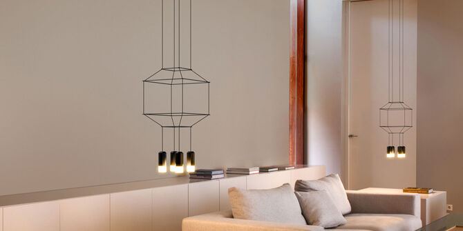Lámparas colgantes Wireflow de Vibia