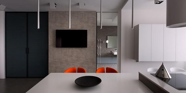 Slim l mparas estilo minimalista de vibia - Lamparas colgantes minimalistas ...