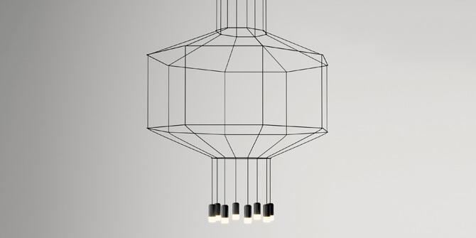 Versiones de lámpara wireflow de Vibia