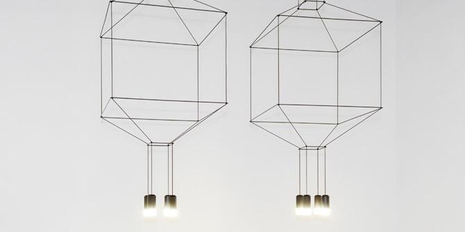 Lámpara Wireflow 3D con 4 leds