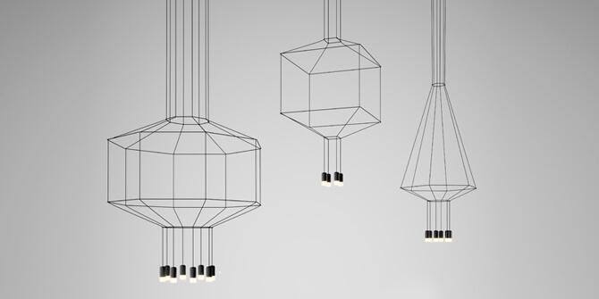 Wireflow de Vibia, reinventando lámparas chandelier