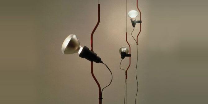 Diseño de lámpara Parentesi de Flos