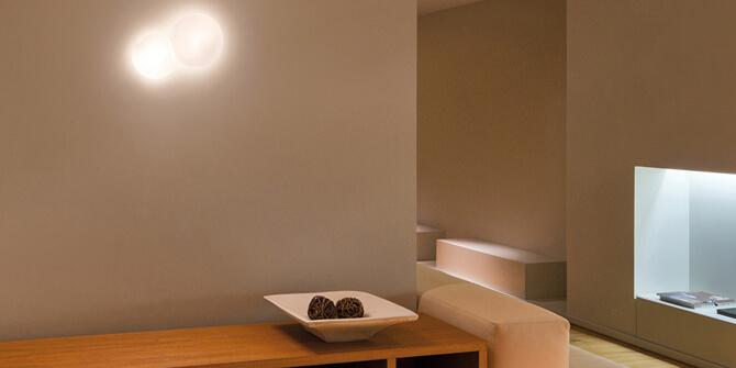 Lámpara de techo y pared Puck 2 de Vibia