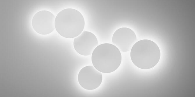 Puck Wall Art, personalizando las combinaciones de lámparas Vibia