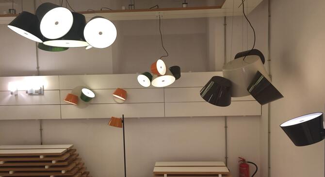 Lámpara colgante Tam Tam diseñada por Marset Barcelona.