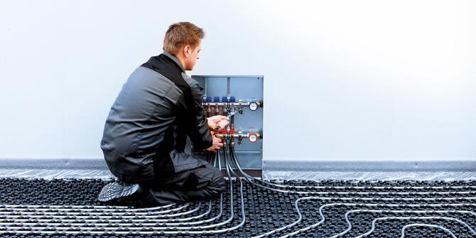 Instalación sistema de calefacción suelo radiante por agua