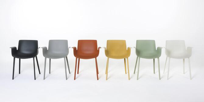 Colores de silla Pluma de Kartell