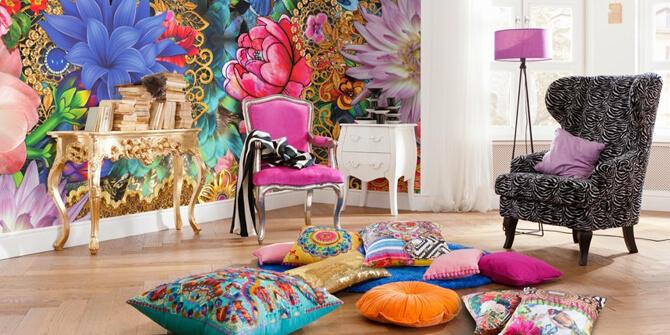 Combinación de colores en estilo bohemio
