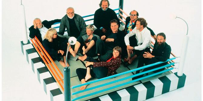 Grupo Memphis en la feria del mueble de 1981 en Milán
