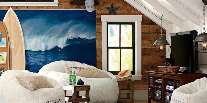 Decoración hogar al estilo surfero