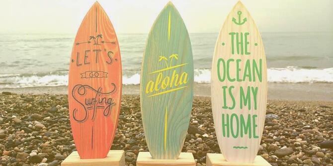 Vertientes e inspiración decoración surfera