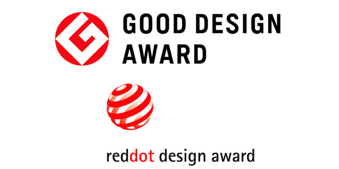 Ganadora premio Good Design Award y Red Dot Design Award