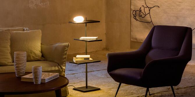 Suite de Vibia, lámpara de pie