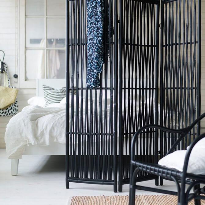 Biombo decorativo para dormitorio