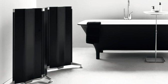 Biombo modernista para baño