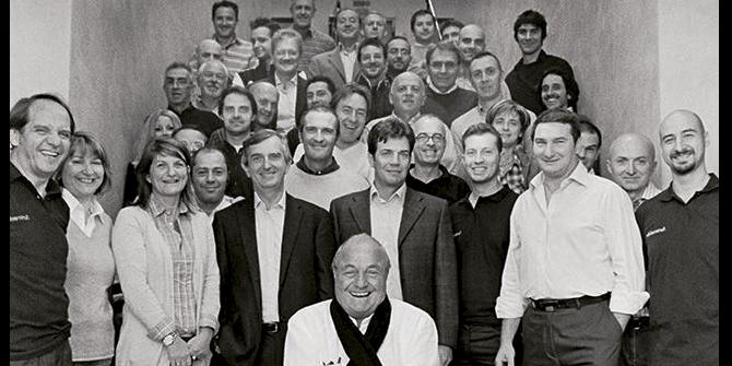 Ernesto Gismondi y el equipo de Artemide