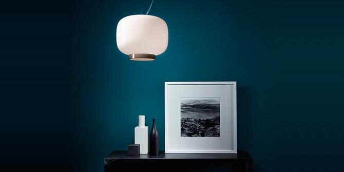 Iluminar recibidor con la lámpara Chouchin de Foscarini