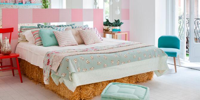 Dormitorio decoración de estilo romántico