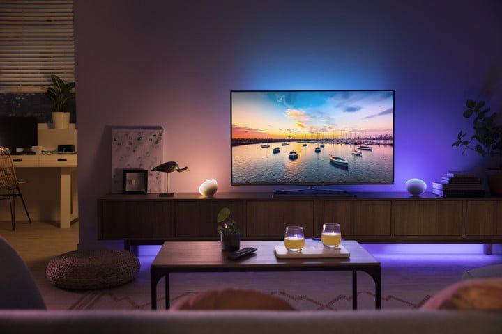 Bombillas inteligentes sincronizadas con la TV