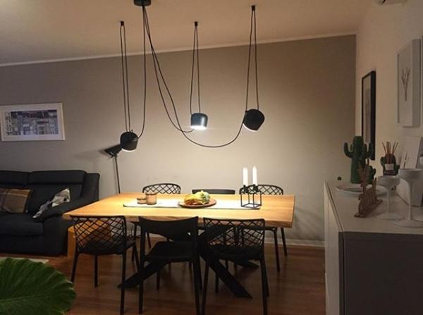 lámpara mesa cocina