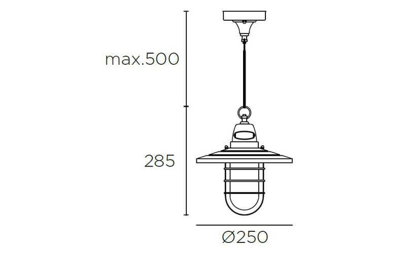 Dimensions od Leds C4 COTTAGE pendant lamp