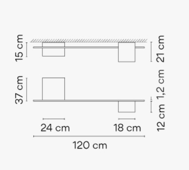 Dimensions od Structural 2640 ceiling lamp