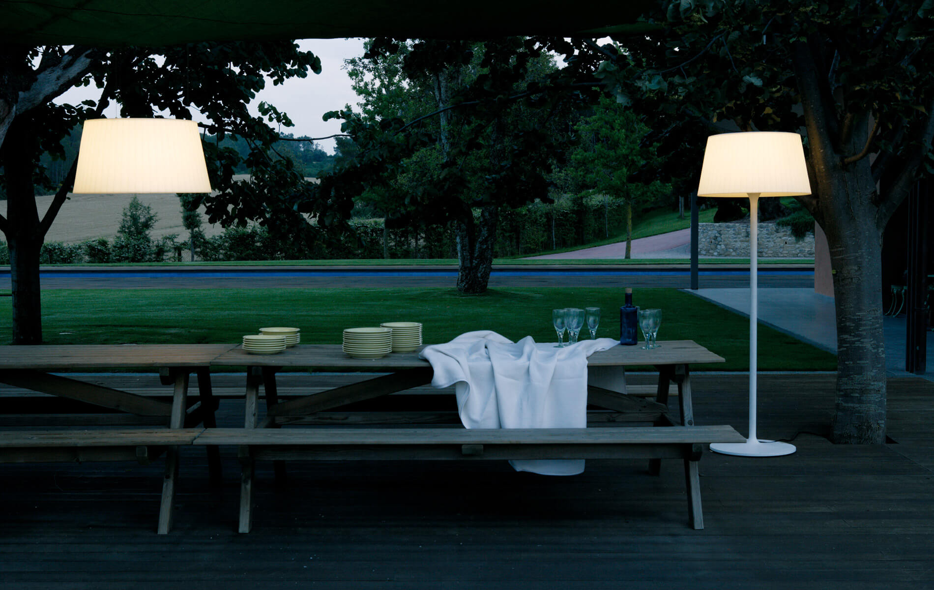 More information of Vibia PLIS outdoor floor lamp